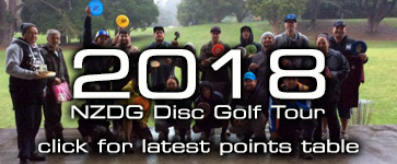 Click here for this year's New Zealand Disc Golf Tour Points Table